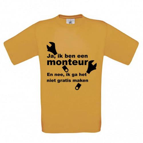 Ja ik ben Monteur